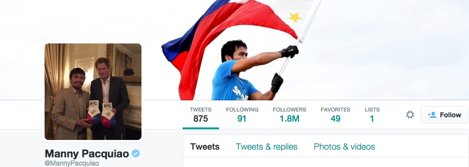 Manny Pacquiao's Twitter