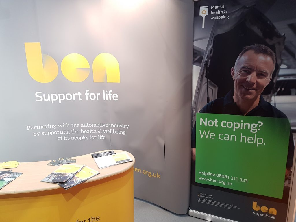 BEN Support for Life stand