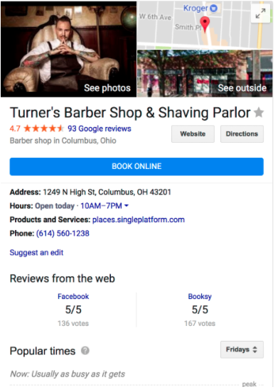 Google My Business Direct Bookings