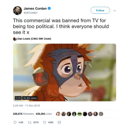 James Cordons' response to the campaign
