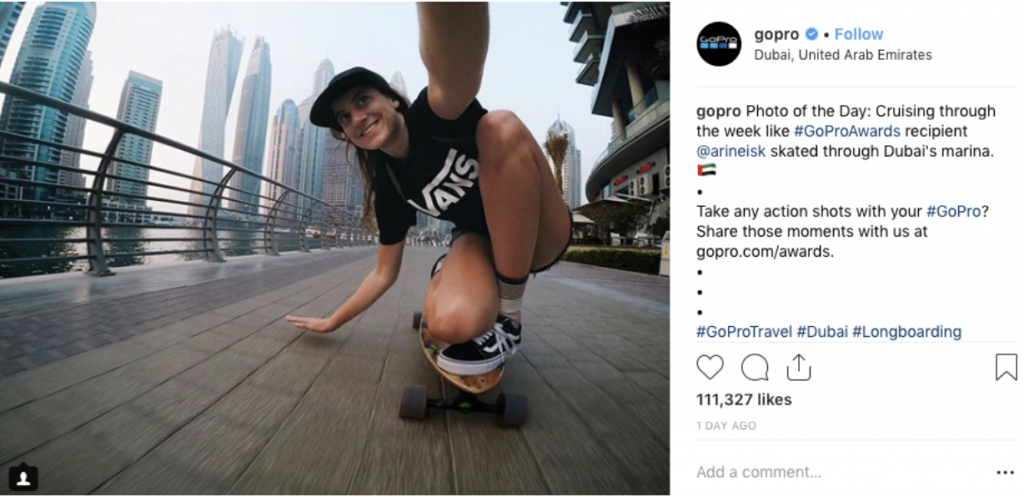 Go Pro user-generated content