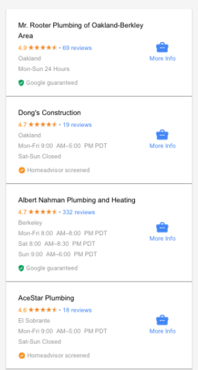 Google Home Local Service ads