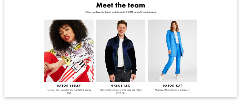 ASOS influencers | honcho outreach and digital pr