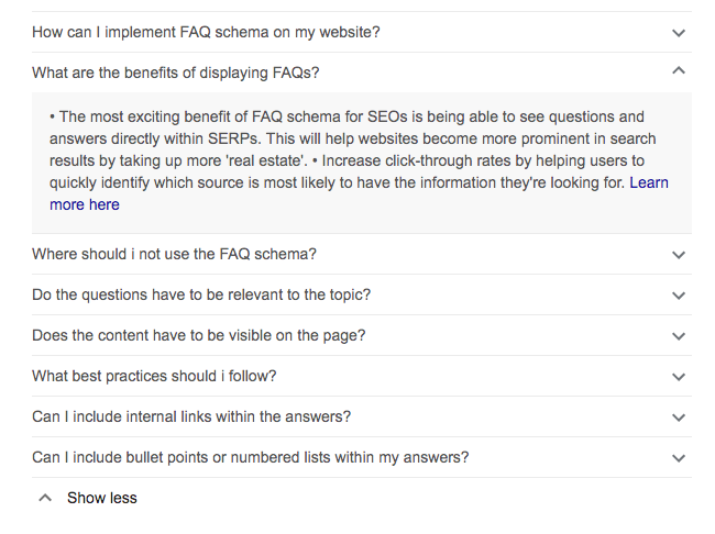 FAQ Schema Rich Results