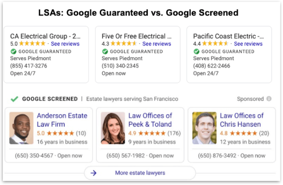 Google Screened Vs Google Guaranteed