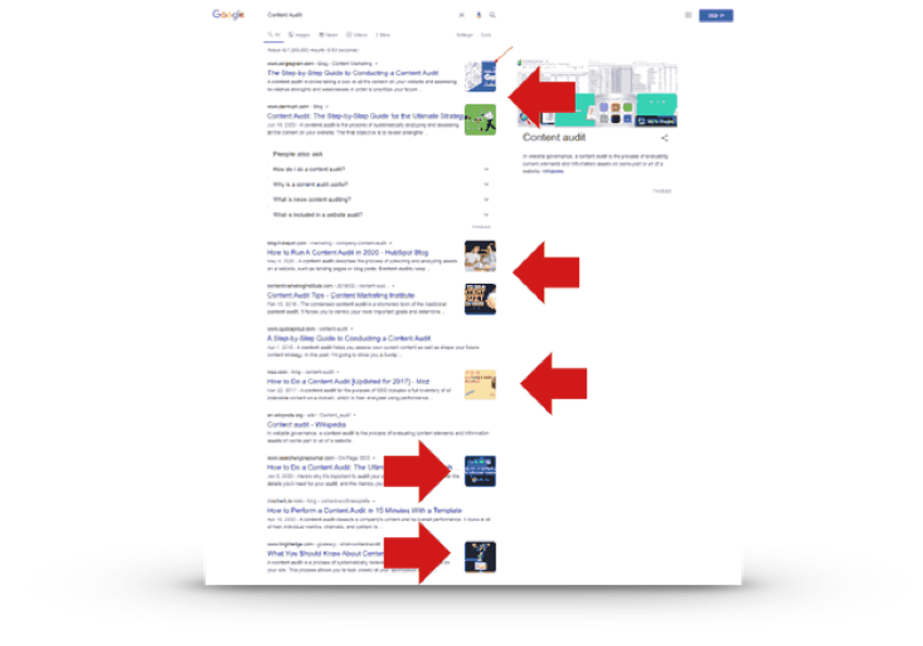 Thumbnail in SERP Example