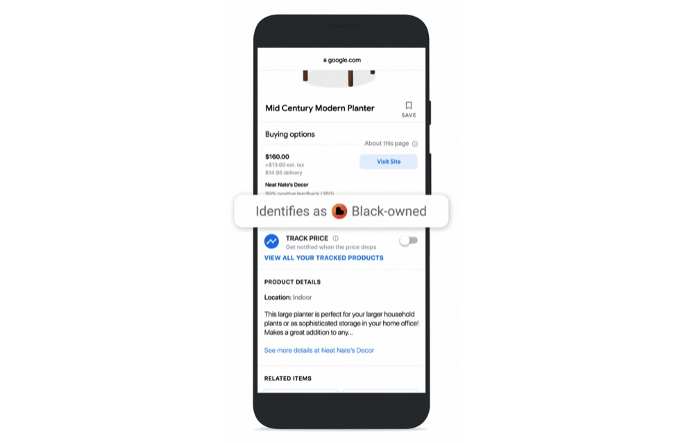 Google Shopping black owned label attribute